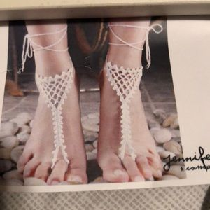 Accessories - Pair of beach crochet jewelry for feet